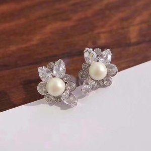 Kate Spade Elegant Pearl And Zircon Stud Earrings